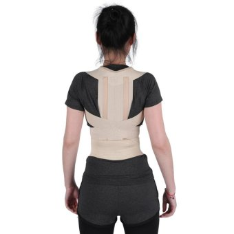 Unisex Posture Correction Waist Shoulder Chest Back Support Corrector Belt (L) - intl