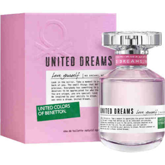 United Colors of Benetton United Dream Love Yourself Eau DeToilette for Women 80ml