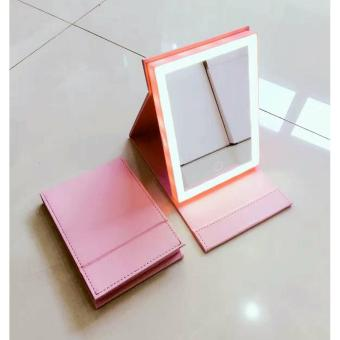 Vanity Illuminated Mirror with 21 LED Light (pink)