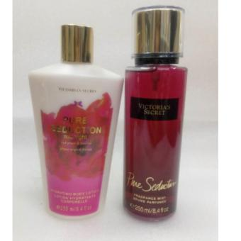 Victoria's Secret Pure Seduction Fragrance Mist and Pure SeductionMidnight Body Lotion Bundle 250ml set of 2