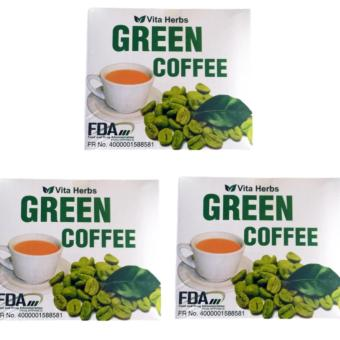VITA HERBS SLIMMING GREEN COFFEE BOX OF 10 SACHET (SET OF 3)