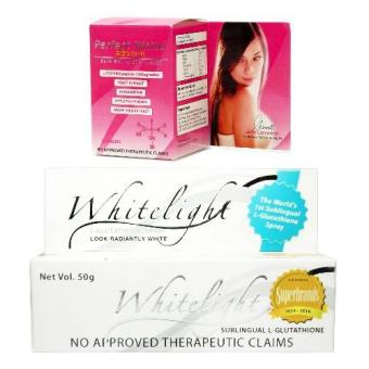 Whitelight Sublingual L-Glutathione and Perfect White PerfectWhitening & Anti-aging Combo