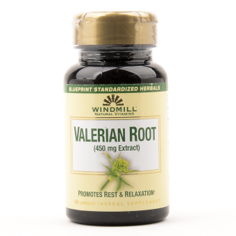 Windmill Valerian Root 450 mg 60 Capsules