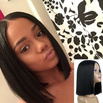 Women Short Straight Black Synthetic Hair Wigs Women's FashionSyntheic Wig - intl