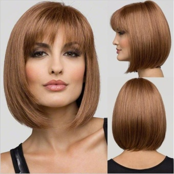 Women Synthetic Bobo Short Straight Hair Wigs with Bang - intl