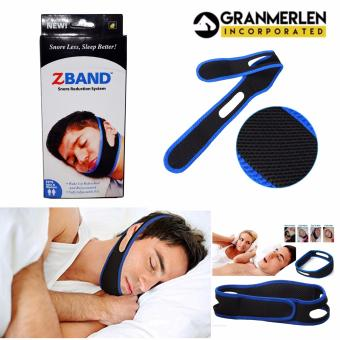 Z band Anti Snore chin strap care sleep stop snoring belt (Blue)