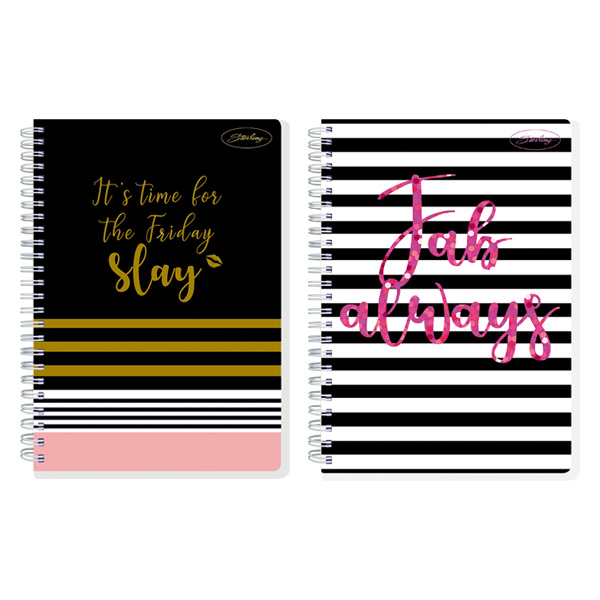 Image of Sterling Fabulous Me Double Cover Wire-O Notebook Design 4