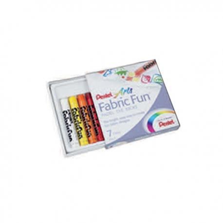 Image of Pentel Fabric Fun 7 Colors Art Implements