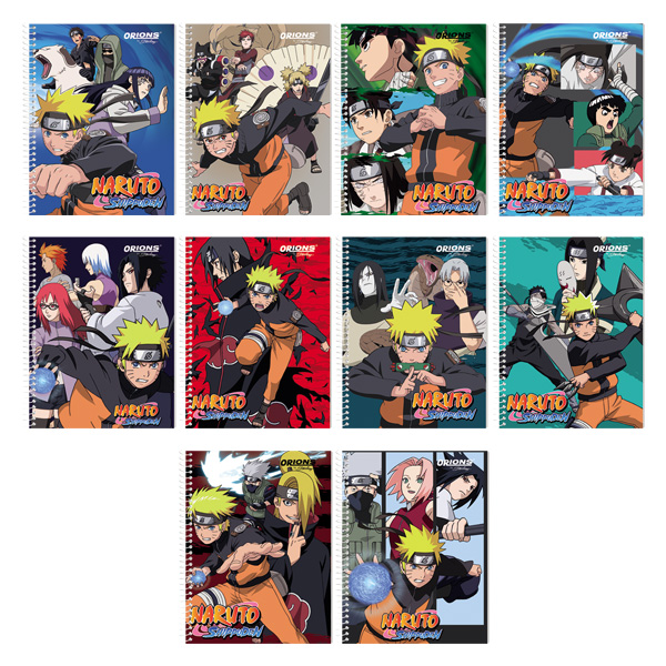 Image of Orions Naruto Shippuden Spiral Notebook Set of 10