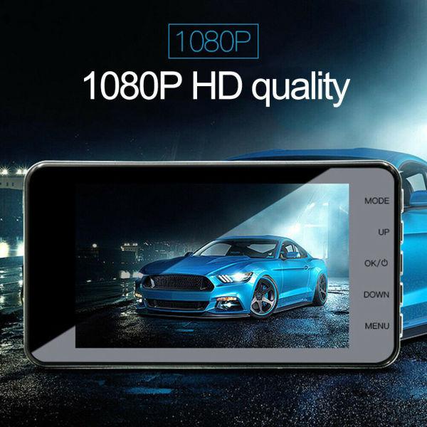 【DFDAL MALL】 Bảng điều khiển kính bằng kim loại 2.5D HD 1080P Máy ghi lái ống kính kép phía trước và phía sau với hình ảnh đảo ngược