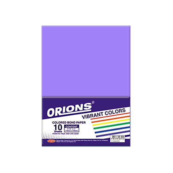 Image of Orions Vibrant Color Colored Bond Paper 10's - Violet
