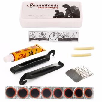 2 sets of Reumafonds 4-in-1 Professional Bike Bicycle Tire Tyre Repair Tools Patch Tool Kit