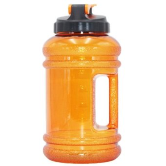 2.2L Portable Sport Water Bottle Water Jug PETG Drinking Containerwith Handle - Orange - intl