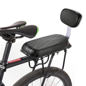 4ever PU Leather Bicycle Child Seat Cover Bike Rack Cushion ForKid's Biking Seat With Back Saddle Cycle Accessories Parts - intl
