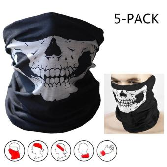 5-Pack Skull Face Masks Motorcycle Riding Bandana Headwear Scarf Outdoor Dustproof - Multifunctional,Seamless,Tublar,Thin - intl