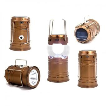 5800T 6 LED Solar Camping Lamp Rechargeable Lantern