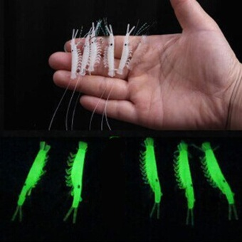 5pcs Luminous Lures Baits Shrimp Shaped Fishing ArtificialNoctilucent - intl