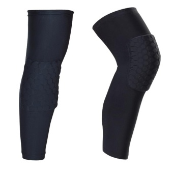 A Pair (Two Pieces) Long Sleeves Sports Basketball KneepadsHoneycomb Knee Pads Leg Brace Sleeve Protective Pad Support GuardProtector Gear-(Size M) - intl