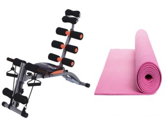 "ABS Six Pack Care Exercise Machine Gym Fitness MachineSlimming(Black/Orange) with Yoga Mat 68""x24"" (Colors may vary) Price Philippines"