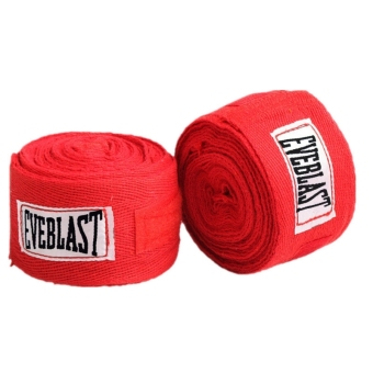Absorb Sweat Cotton Bandage Hand Wraps For Sports Boxing Protect Red - intl