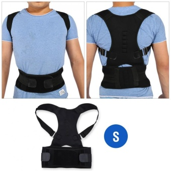 Adjustable Shoulder Brace Support Straighten Back for Posture Correction (S) - intl
