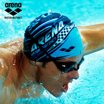 Arena fashion for men and women adult Print silicone swimming cap