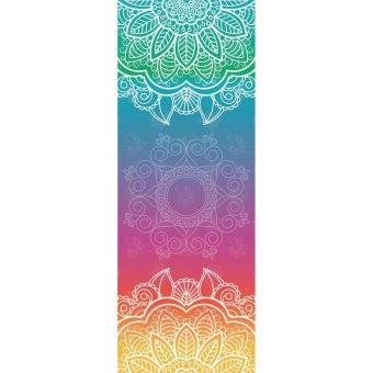 Beautiful Painted Design Anti-Slip Yoga Mat - intl