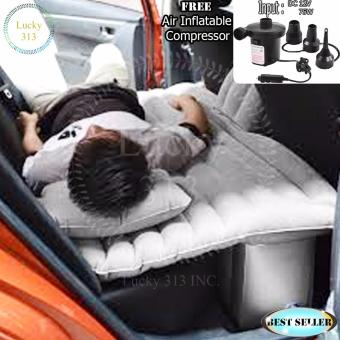 Car Travel Inflatable Air Bed Mattress Outdoor Sofa Grey Free AirCompressor