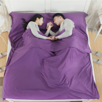 Cotton sleeping bag will carry double sleeping bag Purple