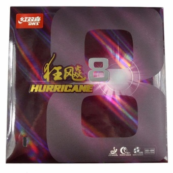 DHS HURRICANE 8 Tournament Ping Pong Paddle, Table Tennis Rubber-Black - intl