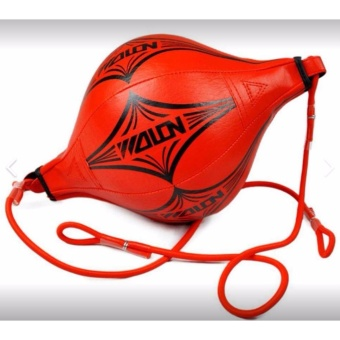 Double End Muay Thai Boxing Punching Bag Speed Ball Punch Training Fitness ( Red)