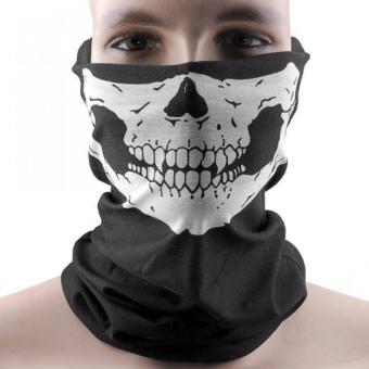 Elastic Windproof Soft Polyester Skull Half Face Mask FacemaskHeadwear For Motorcycle ATV Cycling - intl