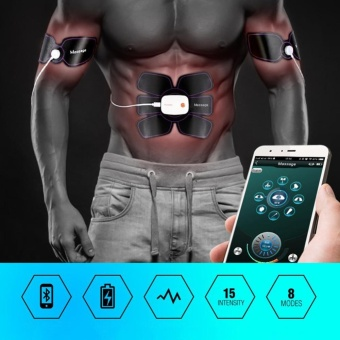 EMS Muscle Stimulator Abdomen Fat Burning Training Gear ABS Training Abdominal Fit Body Home Exercise Shape