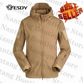 Esdy Soft Shell Military Windproof Jacket Khaki
