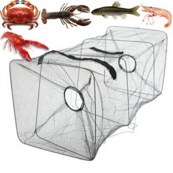 Fishing Bait Trap Dip Cast Net Cage Crab Minnow Crawdad Shrimp Foldable- - intl