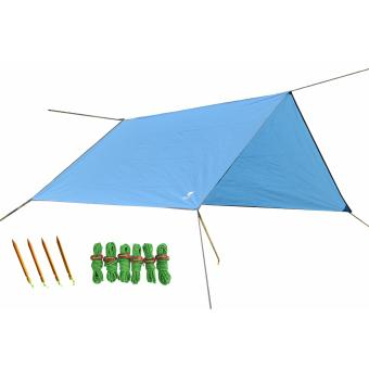 Geertop Lightweight Camping Backpacking Hiking Waterproof Tent TarpGeound Sheet Footprint Camping Mat Rain Fly Hammock Shelter withGuy Lines and Pegs
