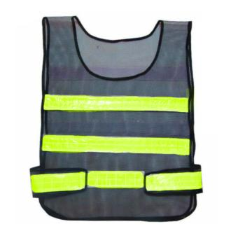 High Visibility Reflective Traffic Safety Vest with adjustable strap (Navy Blue / Yellow)