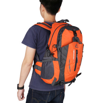 Free knight 005 Outdoor Sports Backpack Hiking Camping Waterproof Nylon Bag 40L(Orange) - Intl Price Philippines