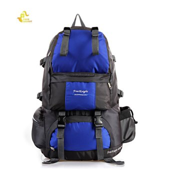 Free Knight FK0218 50L Polyester Water Resistant Backpack Rucksack for Mountaineering Camping Hiking Traveling (Blue) Price Philippines