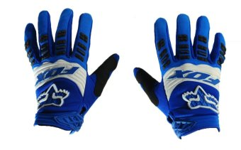 Harga Fortress Motorcycle /Bike Cycling Full Finger Gloves (Blue/White/Black)