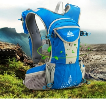 AONIJIE 12L Close-Fitting Hydration pack water backpack vest for Hiking Running Biking (Blue) Price Philippines