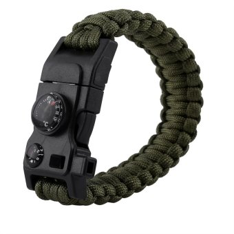 Harga Paracord Multifunctional Bracelet With Compass Compass(army green) - intl