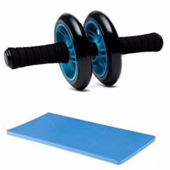 Abdominal Wheel Gym Exercise Roller with Extra Thick Knee Pad Mat-for Best Abs Workout-perfect Fitness Equipment (Blue) Price Philippines