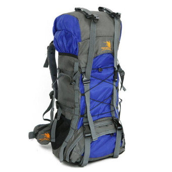 Free Knight 60L extra large Waterproof Nylon Outdoor Sports Professional Climbing Hiking mountianeering Backpack Travel Bags(Blue) Price Philippines