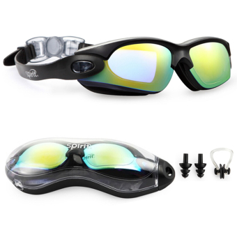 Spirit Clear Swimming Goggles Anti Fog / Scratch UV Protection Leakproof Triathlon Swim Goggles with Free Protection Case for Adult Men Women Youth Child Kids Beautiful black Price Philippines