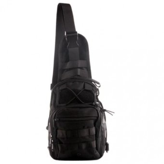 Harga Hug CAI #388 Shoulder Sling Bag Military Tactical Backpack (Black)
