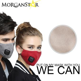 Wecan 2.5 pm dustproof plain cotton face masks with filter breathing valve (Cream) (Male) Price Philippines