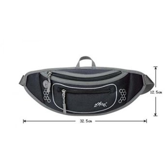 Waist Belt Waist Pack Fanny Bag Ultralight for Outdoor Sports Hiking Travel Climbing Cycling Runing(Black) - Intl Price Philippines