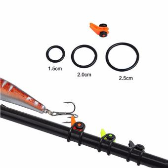 Harga Adjustable Safe Fishing Rod Easy Secure Hook Keeper Holder Lures Jig Black - intl