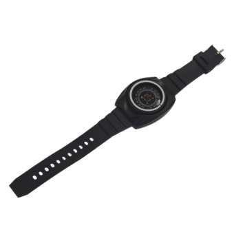 Harga Black Survival Wrist Watch Compass Outdoor Product